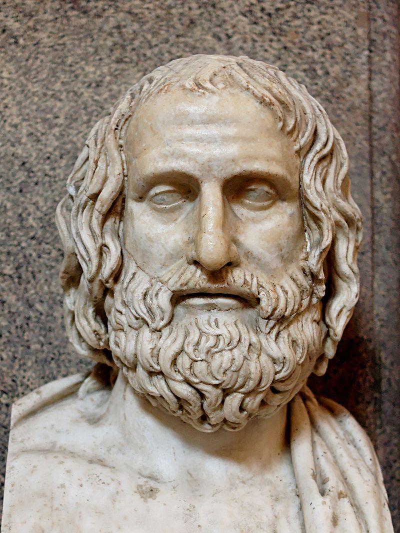 Bustul lui Euripide, Muzeul Vaticanului Pio-Clementino, Sala delle Muse, Wikipedia