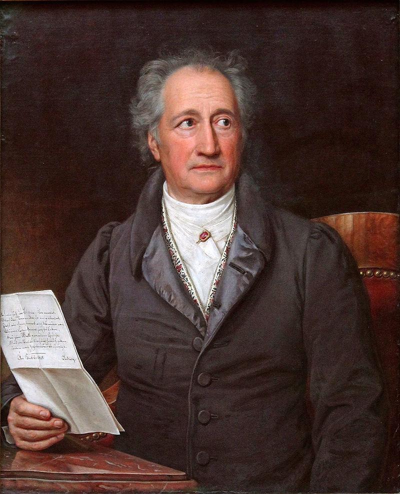 Johann Wolfgang von Goethe la 80 de ani. pictura de Joseph Karl Stieler, Wikipedia.