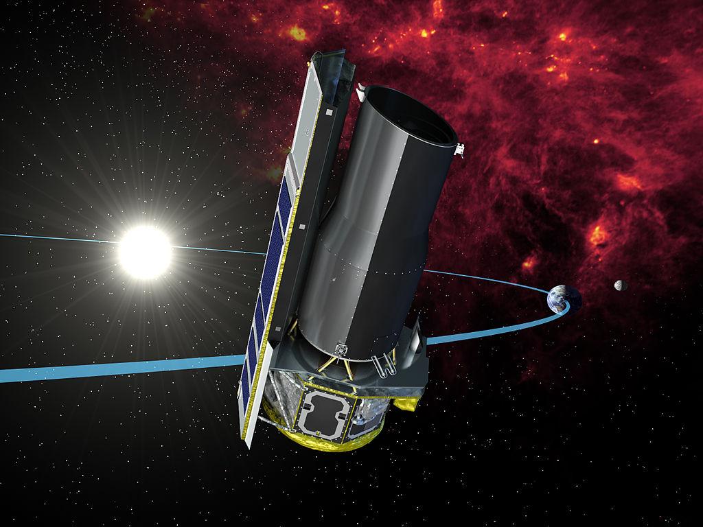 Credit foto: NASA/JPL-Caltech. Spitzer space telescope (Artist concept).Sursă Wikipedia.