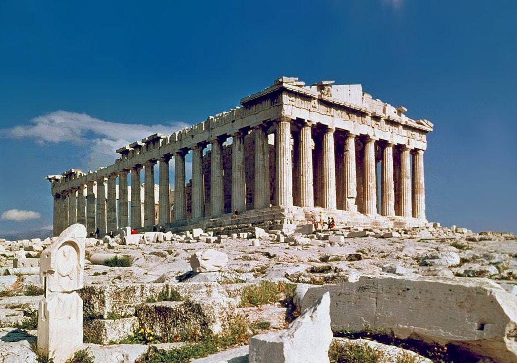 Parthenonul, august 1978, autor foto Steve Swayne, Wikipedia.