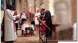 Fantoma soţului ei a participat la botez