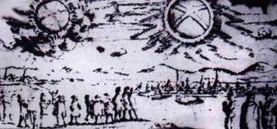 OZN-urile s-au luptat la Nusemberg, Germania (4 aprilie 1561)